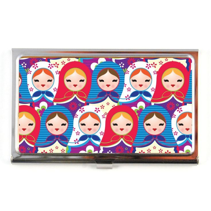 The Quirky. Nesting Dolls Business Card Case