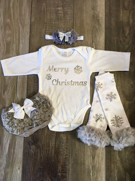 Baby girl Christmas outfit Baby Christmas my by Mylittlerascal