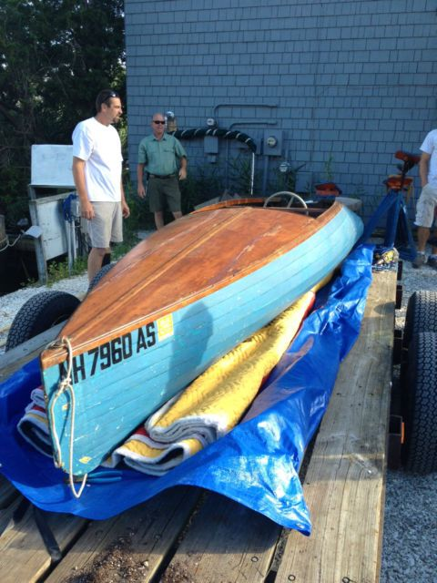 classic wooden boat 1928 pigeon hollow spar antique outboard antique boat - ROW BOAT Racing Runabout 1928 for sale