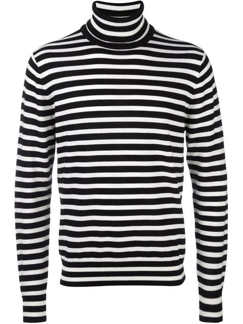 Ps By Paul Smith Striped Turtleneck Jumper - Farfetch