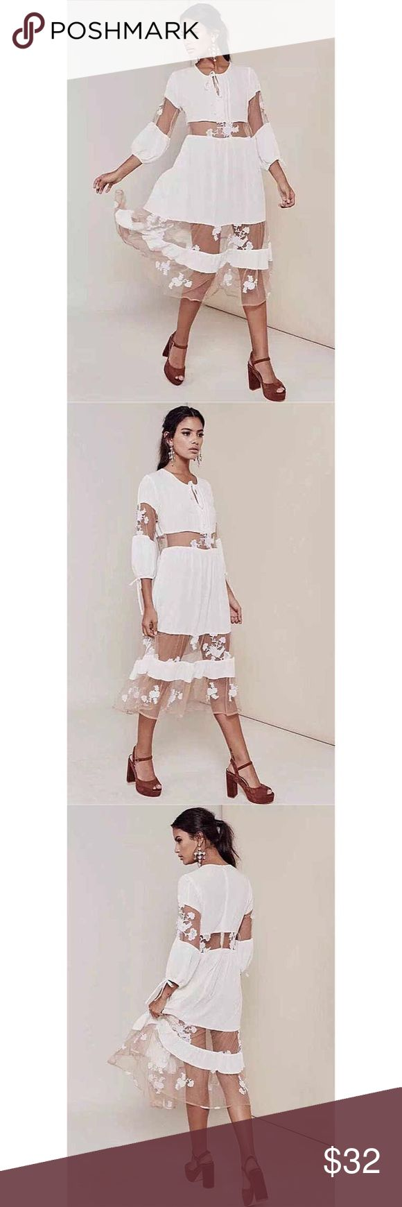 NWOT FL&L inspired Maxi lace dress XS $69 NWOT FL&L inspired Maxi lace dress  Condition: New without tags Color: Cream/White Size: XS Retail Price US$69 For Love and Lemons Inspired!  Measurement: Length 107cm Bust 78cm Sleeve 45cm Waist 66cm For Love and Lemons Dresses Maxi