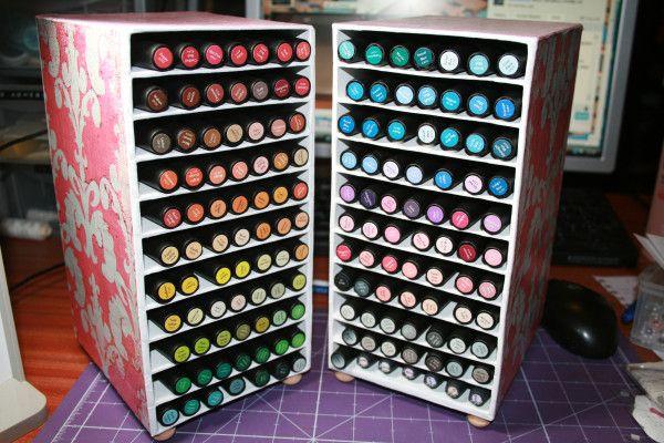 Creative Letraset Marker Storage