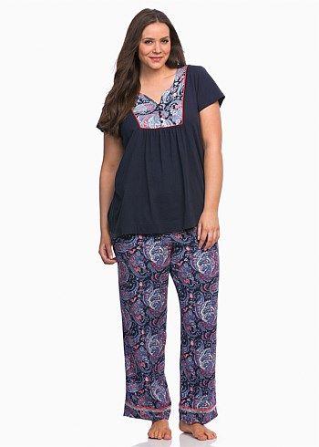Midnight PJ Set #takingshape #curvy #plussize #sleepwear