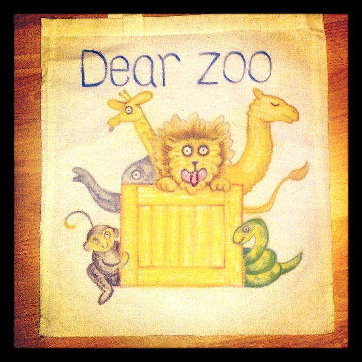 Dear Zoo story sack. My friend Messy Mummy made parcels with each animal in when she used this with her son - so cute.
