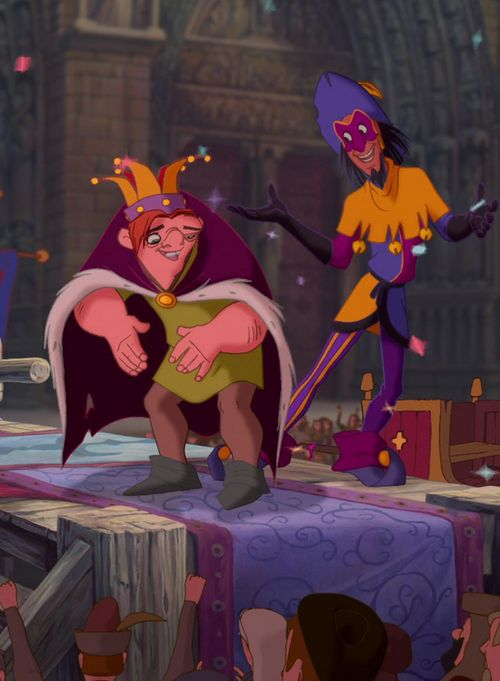 The Hunchback of Notre Dame.  Okay, I don't know his name, but the guy standing next to Quazi (I have no clue how to even begin spelling his name lol) I love that dude.  He's freaking cool.  :)