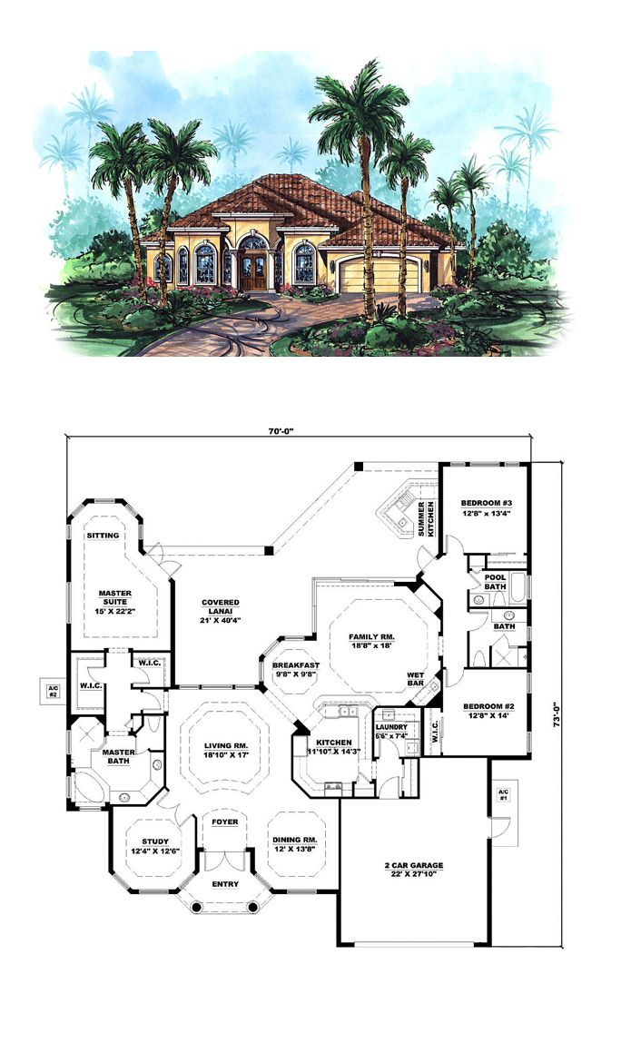 Florida Style COOL House Plan ID  chp 28298   Total Living Area  2784. 16 best Florida House Plans images on Pinterest   Cool house plans