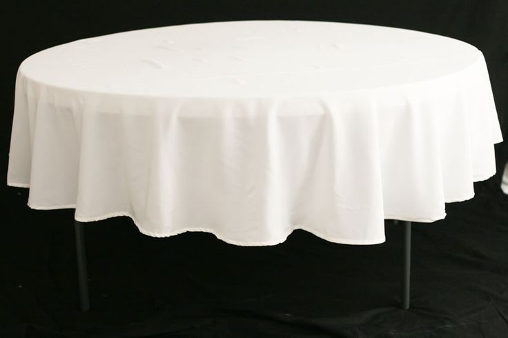 """Could work for 24 inch tables to set around :)  Polyester 90"""" Round Tablecloth - White"""
