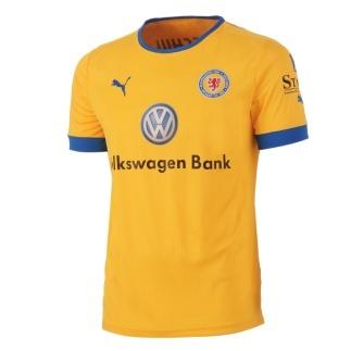 Das offizielle Heim-Trikot der Spieler von Eintracht Braunschweig für die Saison 2012/2013.