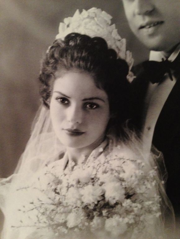 Rubina, 1940s wedding portrait.