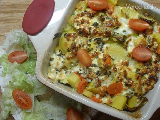 Zapekaná zelenina s fetou - Recept
