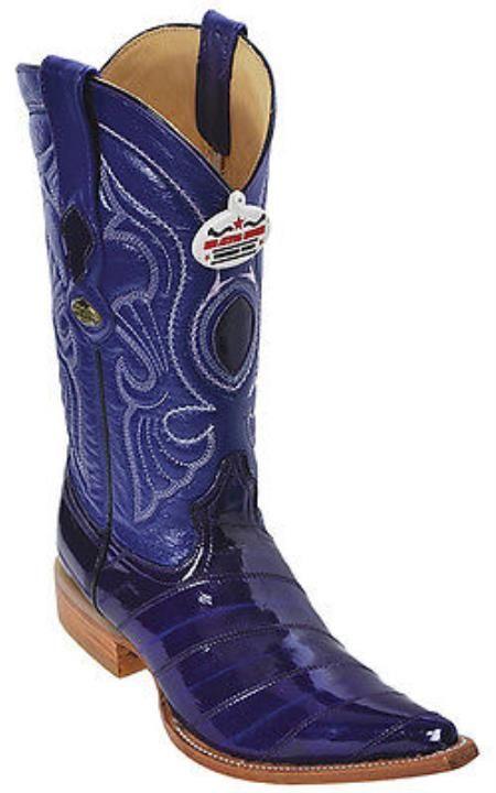 Para hombre de la vendimia púrpura Western Eel botas de vaquero de cuero en 215 dólares
