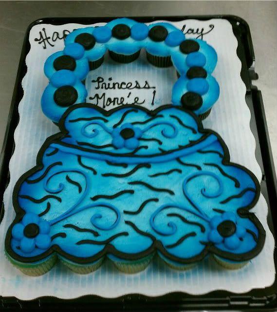 Zebra Print Purse Cupcake Cake