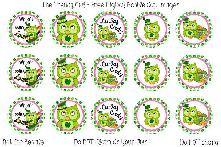 Lucky <3 Retired images uploaded as freebies! Enjoy! ~ FREE Digital Bottle Cap Images!! https://www.facebook.com/thetrendyowlUS http://www.thetrendyowl.com