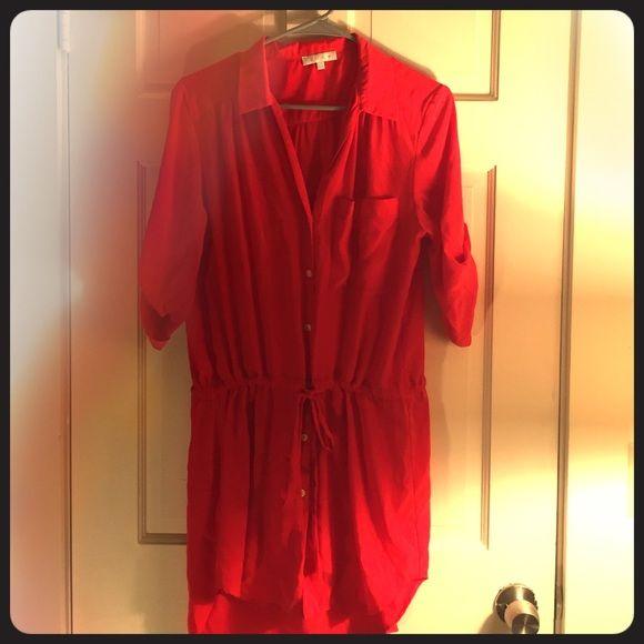 Red tunic dress Red tunic dress Tops Tunics