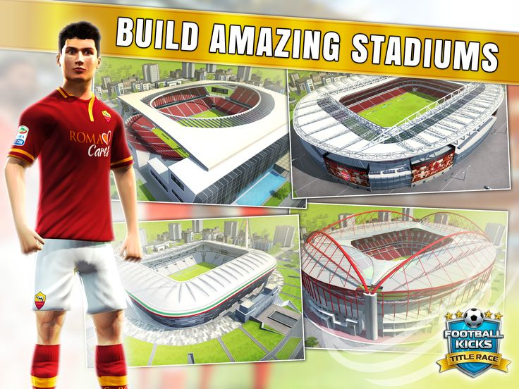 You can create your very own 'theatre of dreams' with custom, elite and even licensed stadiums form Arsenal, Juventus, AS Roma and Benfica.