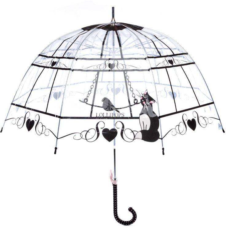 Long Parapluie transparent cloche