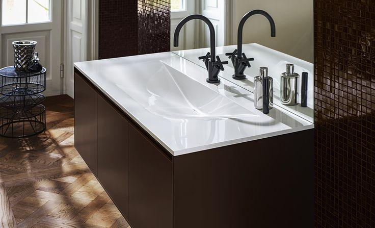 #marron #brown #salledebain #bathroom #lavabo #Burgbad #meubles #lavabo #meublesalledebain
