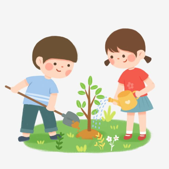 Arbor Day Tree Planting Character Boys And Girls Planting Trees Character Clipart Boy Arbor Day Png Transparent Clipart Image And Psd File For Free Download Trees To Plant Cat Plants Arbour