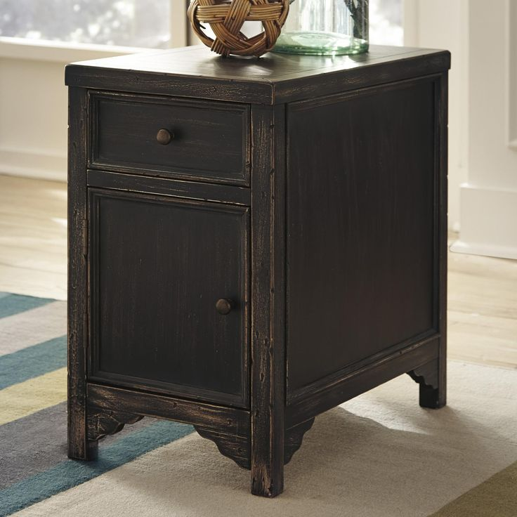 Best Gavelston Distressed Chair Side End Table Accent Cabinet 400 x 300