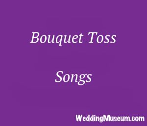 bouquet toss songs - for when the bride tosses her bouquet to all the single ladies. #bouquet #songs