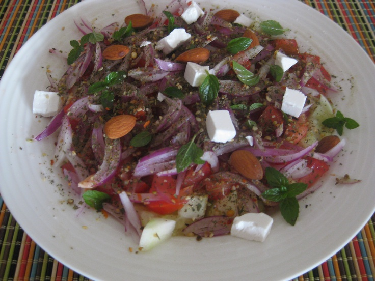 Salad with Australian Feta cheese and Almonds : )