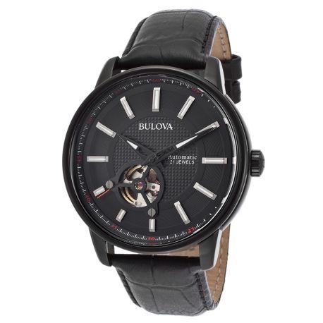 Reloj Bulova  Cuero estilo cocodrilo con cierre Modelo 98A139