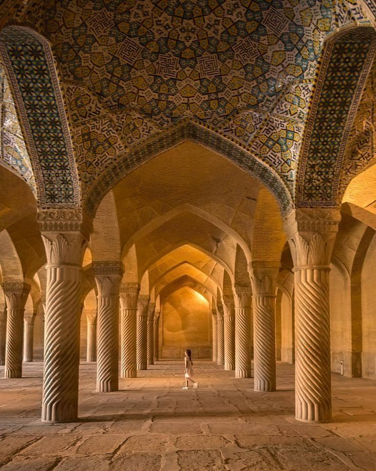 Vakil mosque was built between 1751 and 1773, during the Zand era . Location: city of Shiraz - #Iran