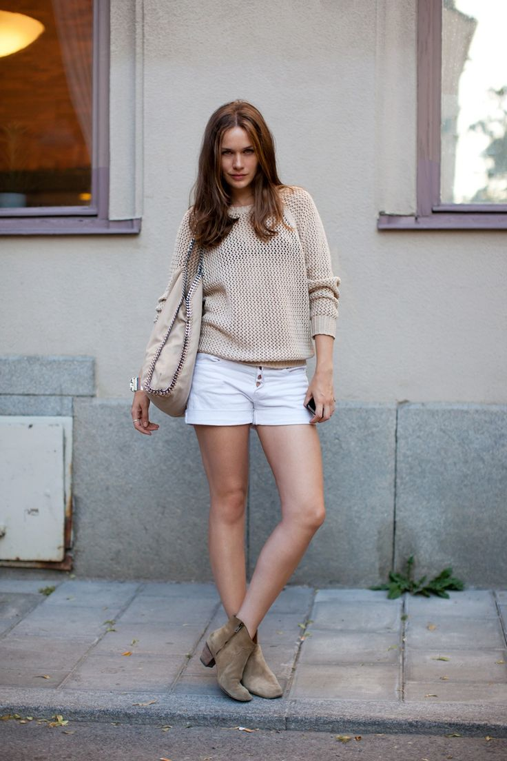 Beige White Scandinavian Fashion