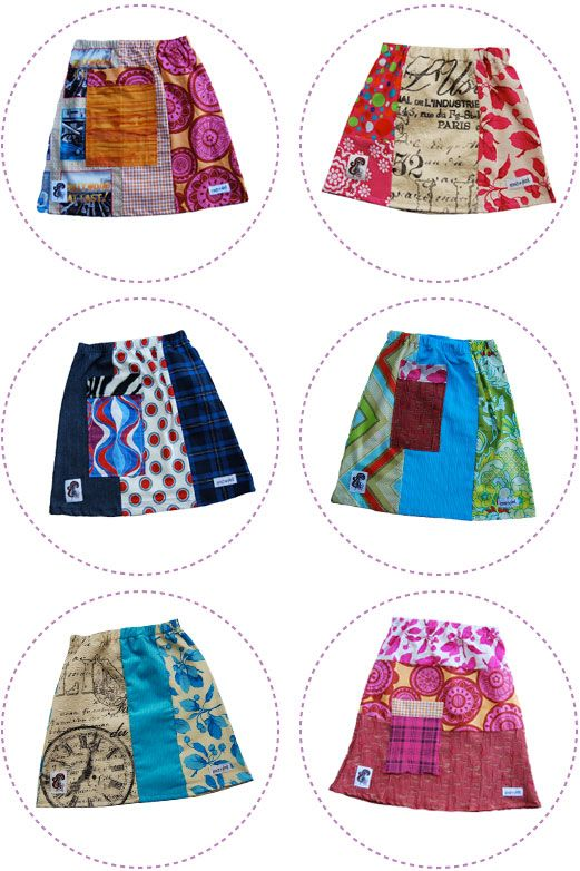 Upcycled Skirts by Enoch and Plonk