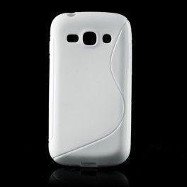 Galaxy ace 3 valkoinen silikonisuojus.