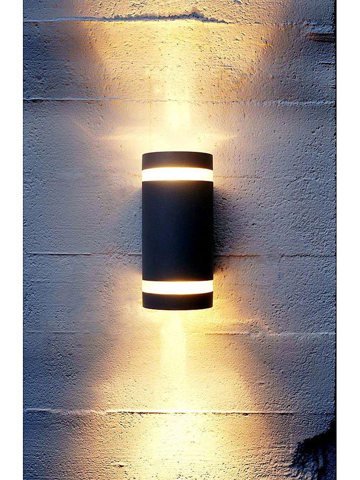 Svart utomhuslampa - Lampekonsulenten Focus Duo wall vägglampa
