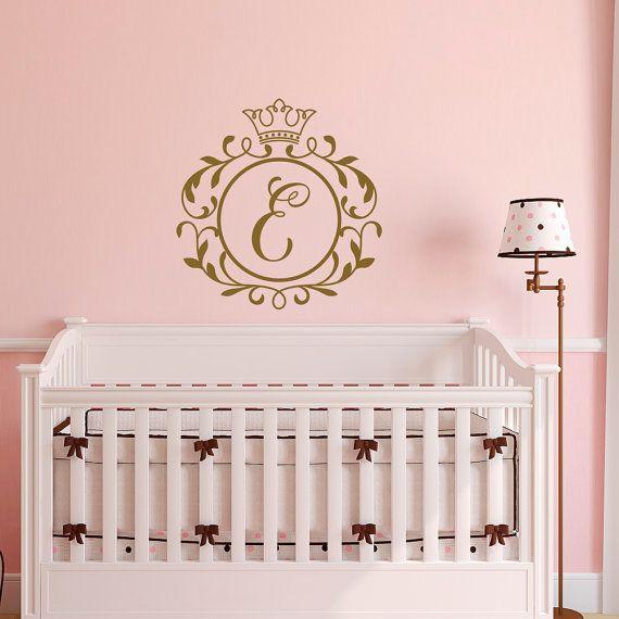 Custom Name Prince Nursery Wall Decal Boys Personalized Crown Sticker Sign Stencil Monogram Baby Boy Room