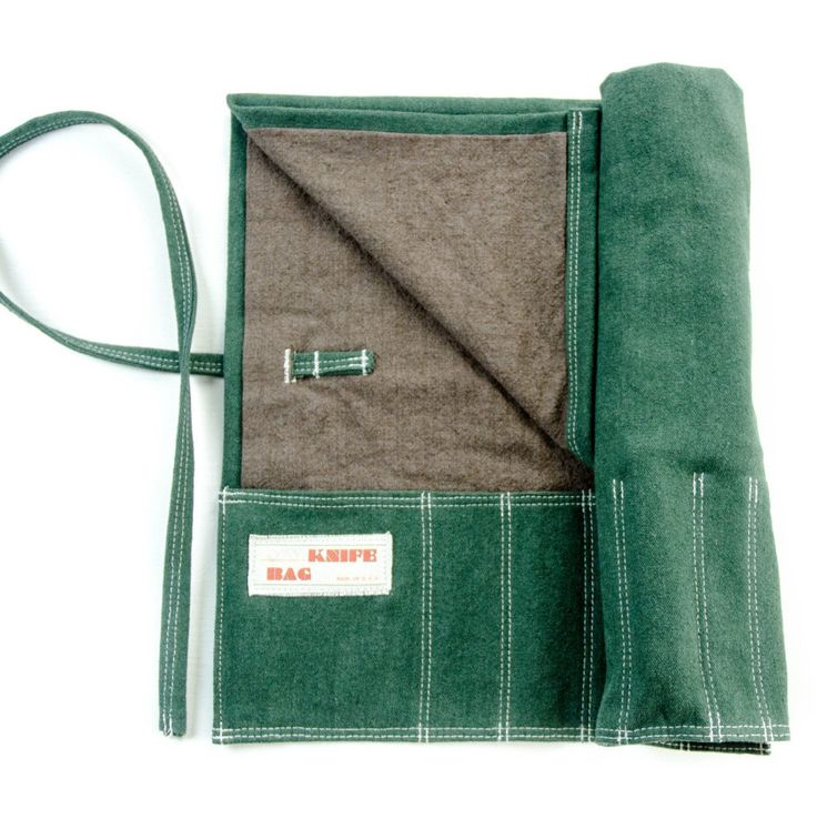 Knife Bag. Hemp Canvas,Green/Brown chef knife roll ,washable durable fashionable chef gift . by Myknifebag on Etsy https://www.etsy.com/listing/285589373/knife-bag-hemp-canvasgreenbrown-chef