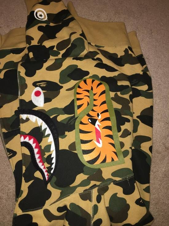 db99b1c8 Bape Bape 1st Camo Shark Full-Zip hoodie Yellow Size l - Sweaters &  Knitwear for Sale - Grailed