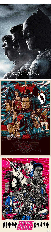 Фан-арты к фильмам Warner Bros. «Бэтмен против Супермена» и «Отряд Самоубийц»