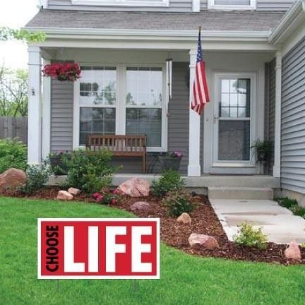 "Choose Life - ProLife 2-Pack 12""x24"" Corrugated Plastic Signs w/EZ"