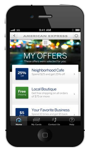 Amex American Express My Offers Proximity Offers Spend Graph