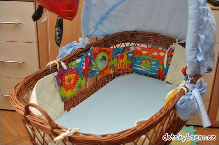 Prodám krásný velký proutěný košík pro miminko
