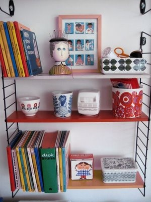 Jane Foster Blog: 50s shelving Tomado - love this type of shelving