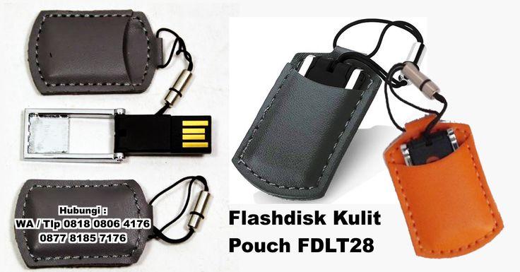 Jual Flashdisk Kulit Pouch FDLT28 - Usb Kulit Chip