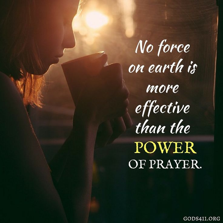 The power of prayer is something so amazing!