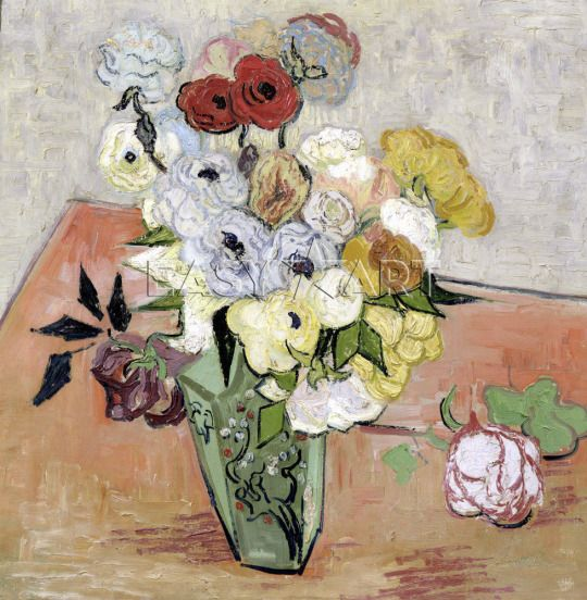 Roses and Anemones - Vincent van Gogh 1890