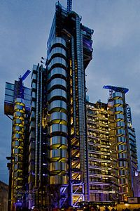 Lloyds of London - My daughter works in the field of Risk Management and has associates there; amazing place.