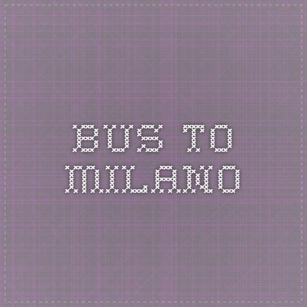 bus to milano