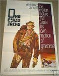 """Original vintage movie poster one sheet for """"One Eyed Jacks"""" with Marlon Brando>>  http://www.cvtreasures.com/vintage-movie-posters-for-sale-classic-movie-posters-for-sale-c-66_74/one-eyed-jacks-marlon-brando-1961-one-sheet-movie-poster-p-1102"""