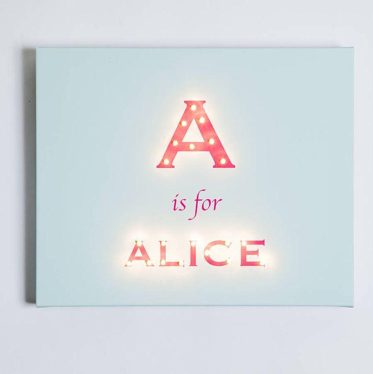 Alphabet Illuminated Canvas