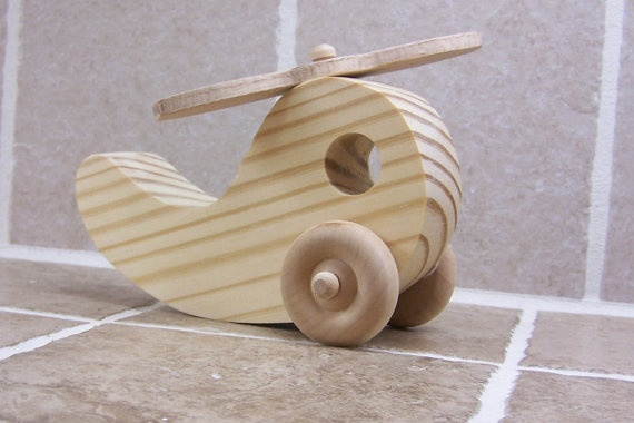 wooden helicopter  by The Wooden Workshop