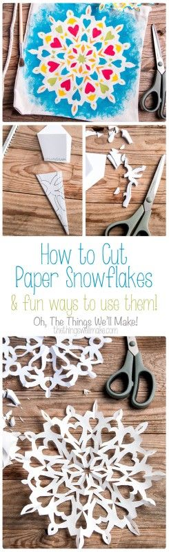 Cutting paper snowflakes is a fun and easy project, but it gets even better when you use the technique to make fun projects on fabric and other materials.