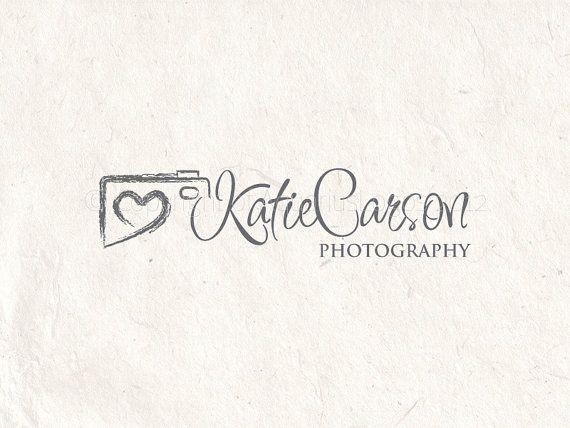 Premade Photography logo design and photography logo Watermark. Camera logo and heart logo. on Etsy, $19.99