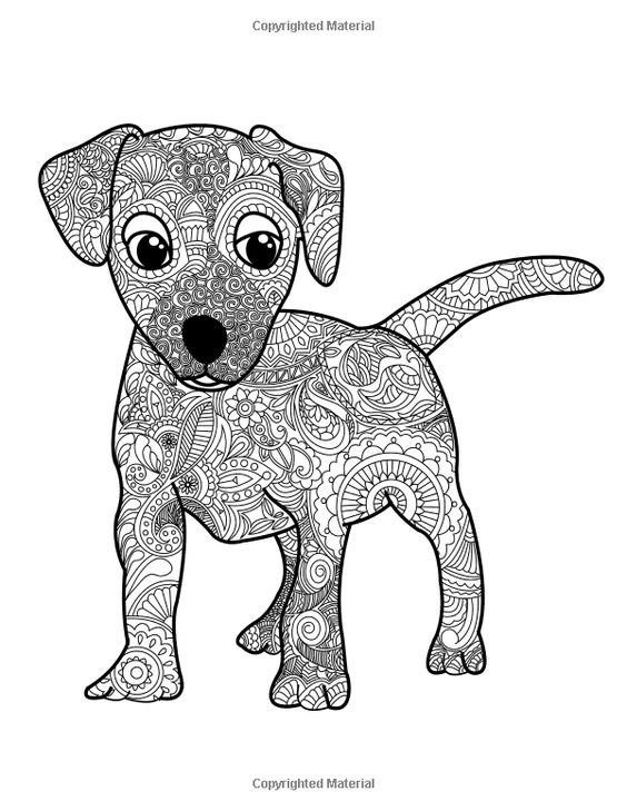 809 best coloring dog images on Pinterest  Blog Colouring and